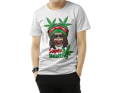 Cannabis t-shirt design for man