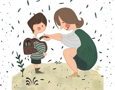 Grow Up Children book Illsutration