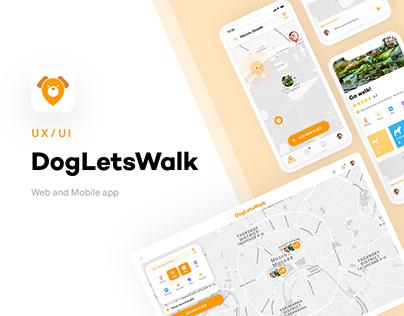 "UX/UI + Logo design. Startup ""Dogletswalk"""