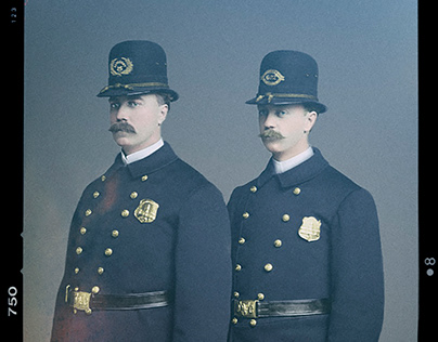 The Police Officers - Photo restore and color project
