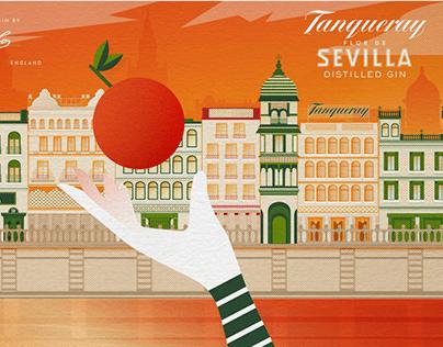 Tanqueray Flor de Sevilla Illustration (2019)