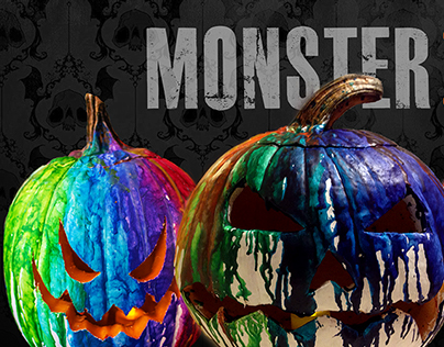 MONSTER Art Show & Halloween Party Ad Campaign
