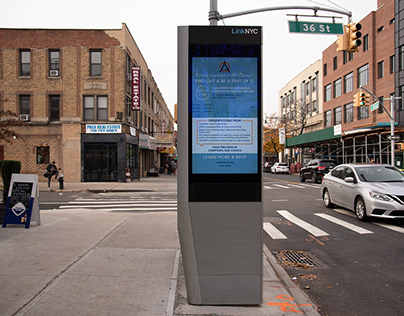 Old Astoria Neighborhood Association LinkNYC Ad
