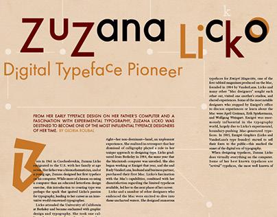 Editorial Spread—Zuzana Licko