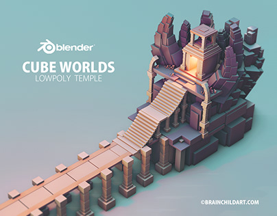 Using only the DEFAULT CUBE in Blender 3D