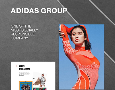 Adidas Group site redesign concept