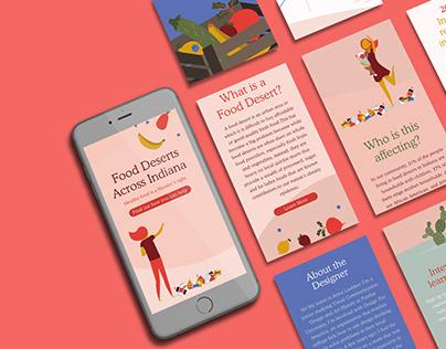 Food Deserts Responsive Website