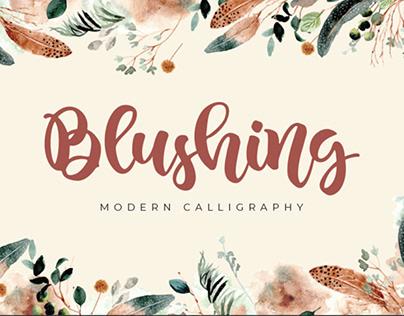 FREE   Blushing Modern Calligraphy Font