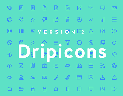 Dripicons V2 (Free Iconset) - SVG, Webfont, PSD, Sketch