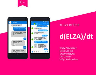 d(ELZA)/dt chatbot. AI Hack DT 2018