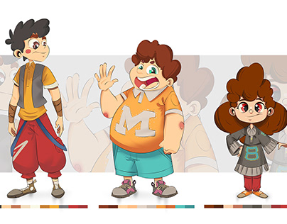 A set of pirate characters