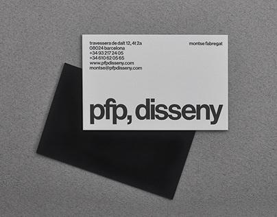 identitat pfp, disseny
