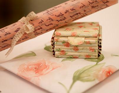 Gift Packaging - Rose print