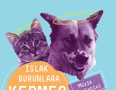 Sokak Hayvanları İçinDüzenlenen Kermes Afişi