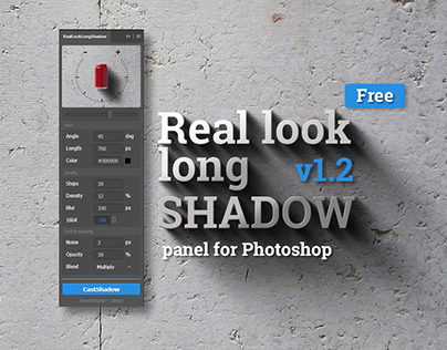 RealLookLongShadow Panel for Photoshop