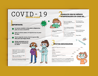 Cartel informativo - vacuna Pficer