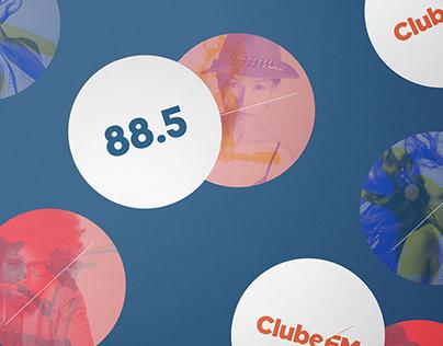Clube FM 88.5 - Identidade visual.