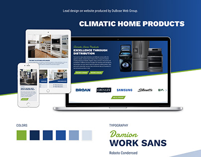 Climatic Home Products Website Design