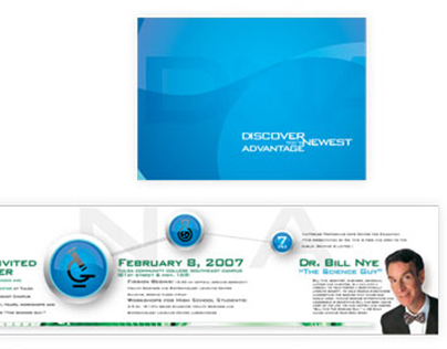 Brochure for facility opening event