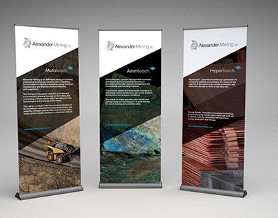Alexander Mining plc Banner Stand Graphics