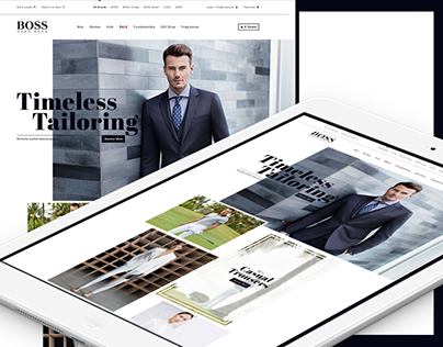 Hugo Boss Concept Homepage