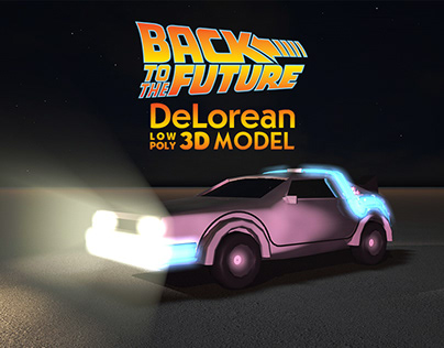 Back to the Future's Delorean - Low Poly 3D Model