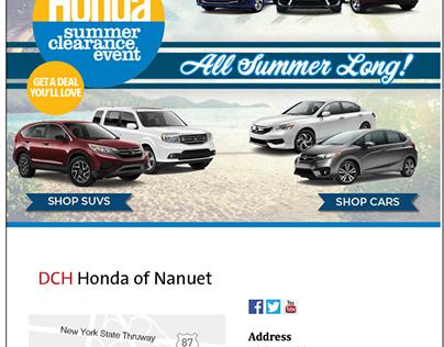 Summer Email Blasts - DCH Honda of Nanuet