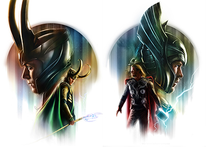 Thor & Loki - series of Poster