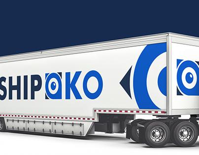 Logo for a logistics company Shipoko