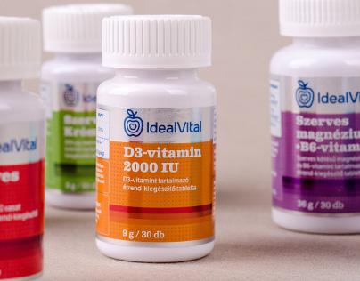 IdealVital vitamins branding & packaging
