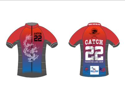 Catch 22 - Rowing Boat competition Sports shirt design
