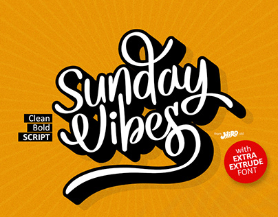 Sunday Vibes (Clean Bold Script)