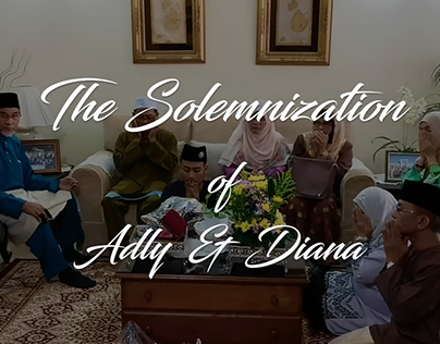 RANDOM VIDEOGRAPHY (THE SOLEMNIZATION OF ADLY & DIANA)