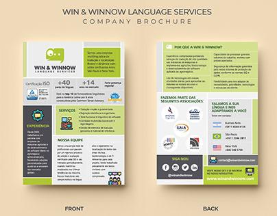 Win & Winnow » diseño de folleto simple