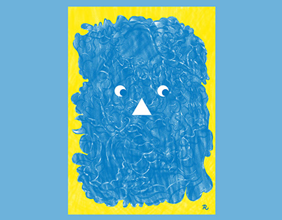 The Fear of Moving Forward Risograph Print