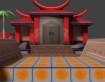 Asian Temple Demo Scene