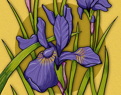 Iris, Art Deco style