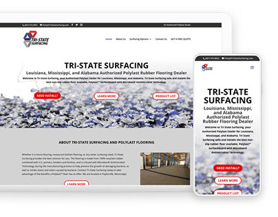 Tri-State Surfacing Website Redesign