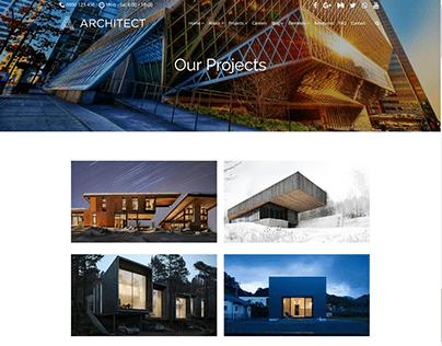Projects 2 Columns Page - Architect WordPress Theme
