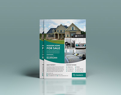Awesome and professional real estate flyer design
