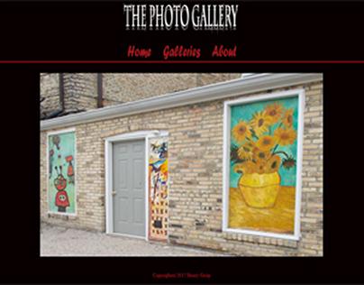 The Photo Gallery Website Design