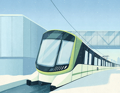 REM - public transit development project in Montreal