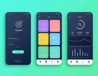 Goals and Habits App UI