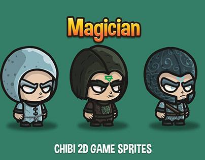 Magician Chibi 2D Sprites