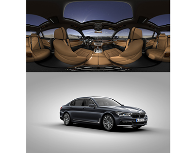 VR interior + 360 exterior of BMW 7