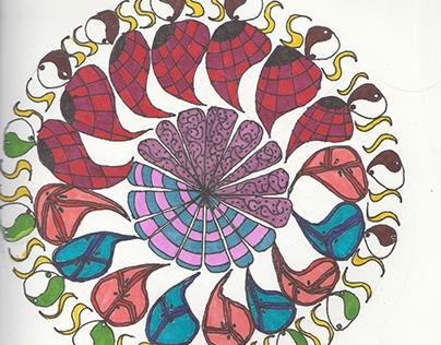Mandala with paislies