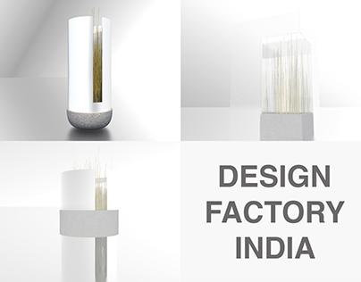 Cylindric vase - internship at Design Factory India