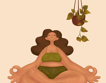 Yoga Poses Illustration