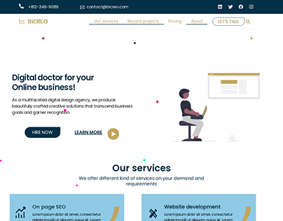 Clean Digital marketing Website Design