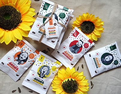 BijiBiji - Sunflower Seeds Packaging Concept Design